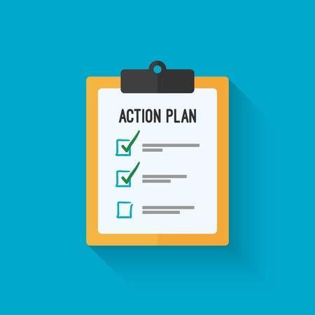 58668429-plan-de-acción-de-diseño-icono-del-portapapeles-sobre-un-fondo-azul-junta-objetivo-lista-de-verificación-icon